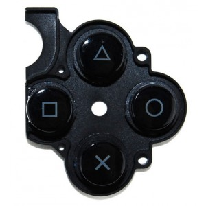 Caoutchouc boutons PSP Slim noir