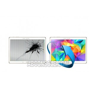 """Remplacement LCD + Vitre tactile Galaxy Tab S 10.5"""" (T800) Blanc"""