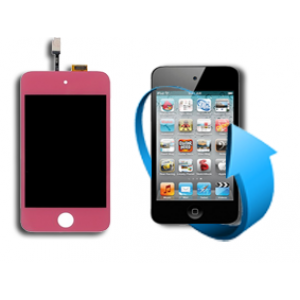 Remplacement écran LCD + tactile Ipod touch 4 (rose)