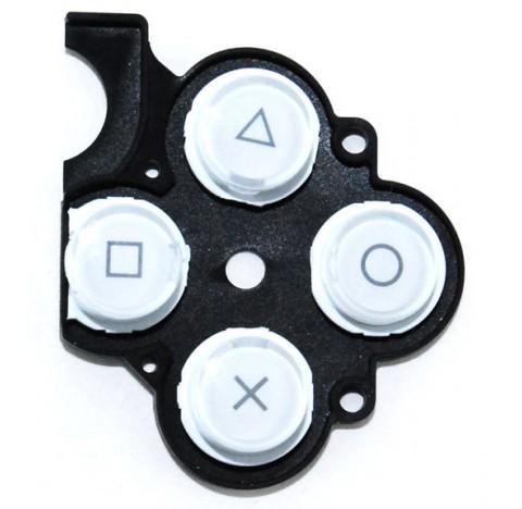 Caoutchouc boutons PSP Slim blanc