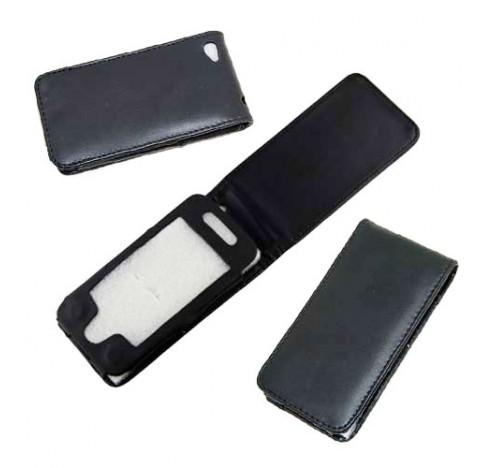 Housse en simili cuir Iphone 4 (noire)