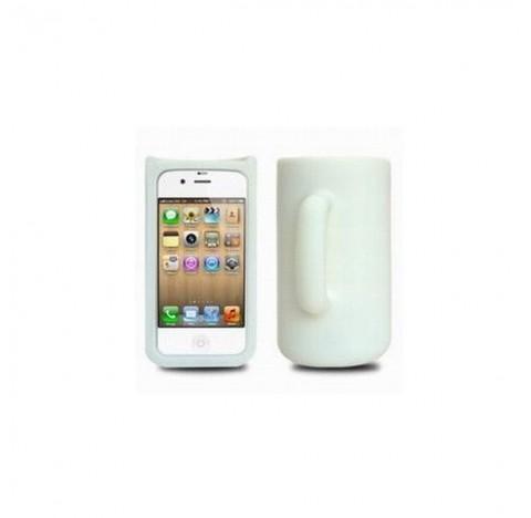 Coque Mug en silicone iphone 4 (blanche)