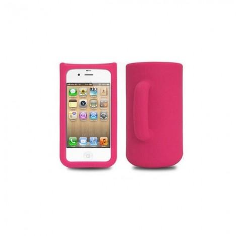 Coque Mug en silicone iphone 4 (rose)