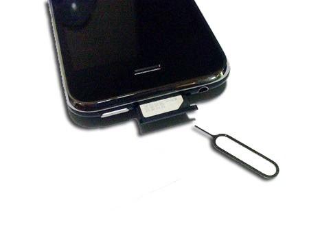 Aiguille rack SIM Iphone 3G et 3GS