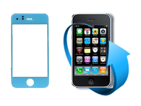 Remplacement vitre tactile Iphone 3GS (Bleue)