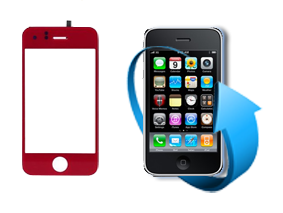 Remplacement vitre tactile Iphone 3GS (Rouge)
