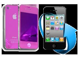 Remplacement écran + vitre arrière iPhone 4 rose chromé