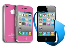 Remplacement écran + vitre arrière iPhone 4 (rose)