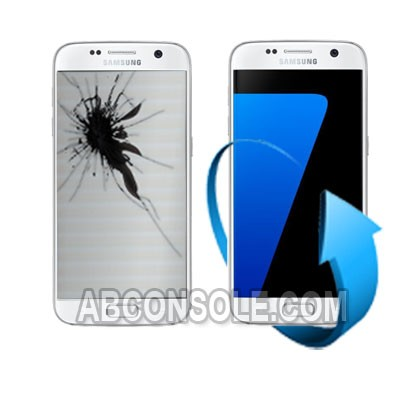 Remplacement écran Samsung Galaxy S7 EDGE blanc (G935F)