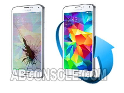 Remplacement écran Samsung Galaxy S5 blanc (i9605/G900F)