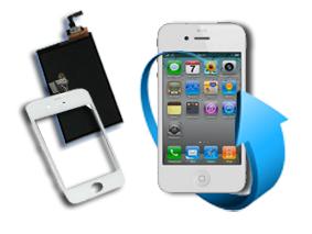 Remplacement écran tactile + LCD Iphone 4 (blanc)