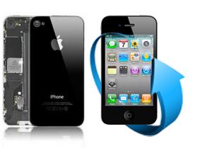 Remplacement écran + vitre arrière Iphone 4 (noir)