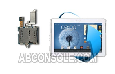 "Remplacement lecteur SIM Samsung Galaxy Note Tab 10.1"" (N8000)"