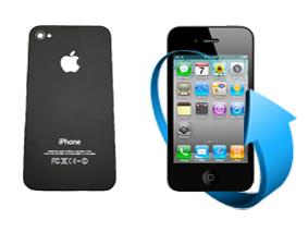 Remplacement vitre arrière Iphone 4 (Noire)