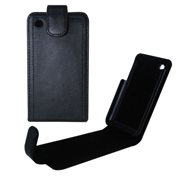 Housse en cuir pour Iphone (noire)