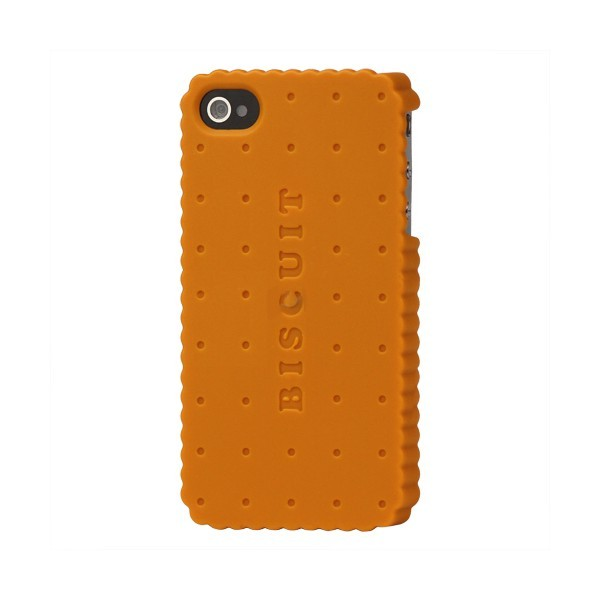 Coque de protection biscuit pour Iphone 4 et 4s (orange)