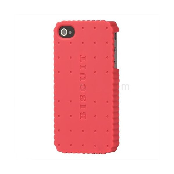 Coque de protection biscuit pour Iphone 4 et 4s (rose)
