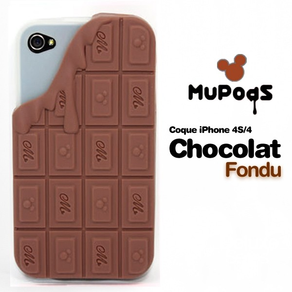 Housse de protection chocolate Iphone 4 (marron)
