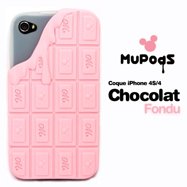 Housse de protection chocolate Iphone 4 (Rose clair)