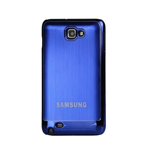 Coque de protection métalisée Galaxy Note (bleue)
