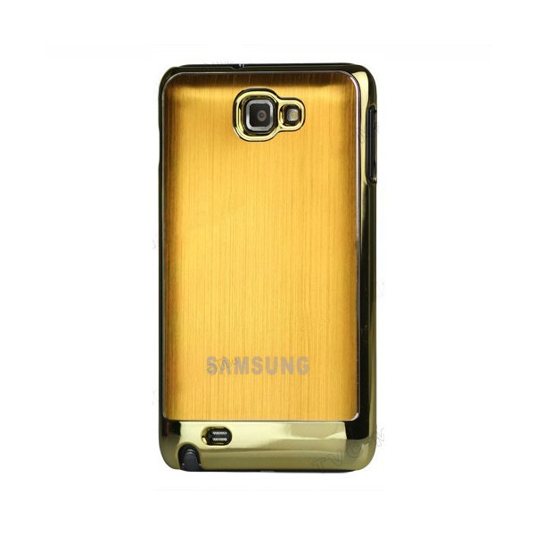 Coque de protection métalisée Galaxy Note (or)