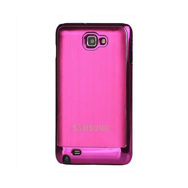 Coque de protection métalisée Galaxy Note (rose)