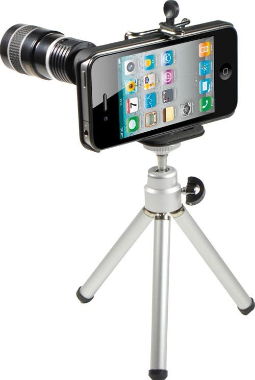 Coque + zoom 6x + trépied pour  iphone 4/4S