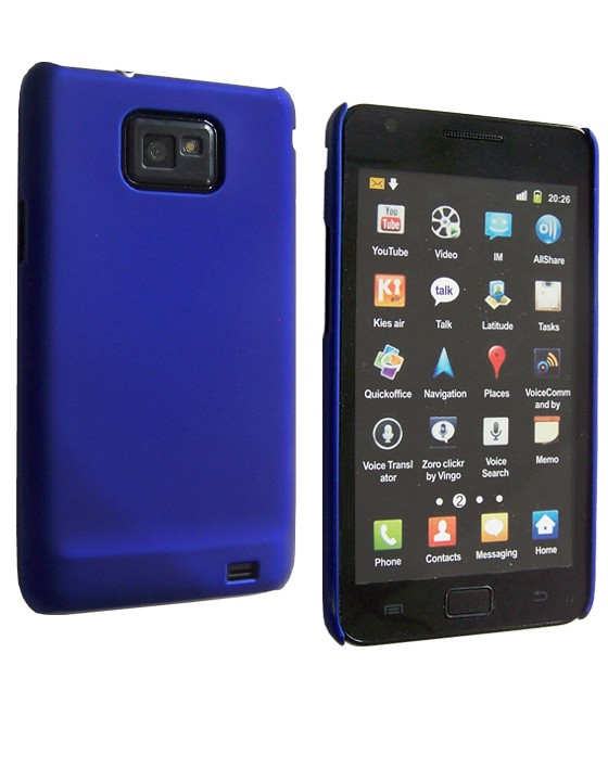 Coque de protection samsung Galaxy S2 (bleue)