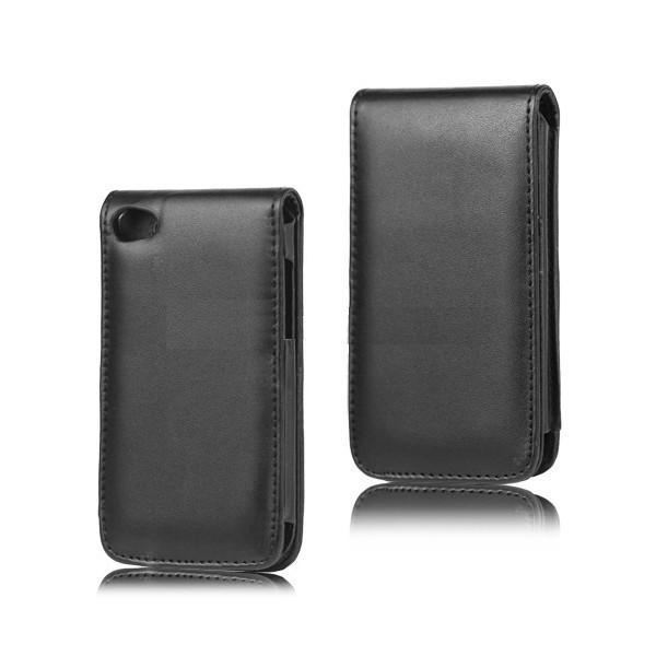 Coque de protection simili cuir pour ipod touch v4