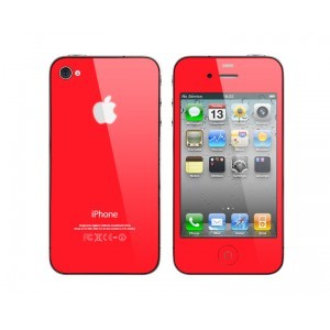Kit complet coque iphone 4 Rouge