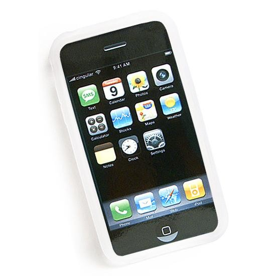 Housse silicone pour Iphone 3G/3GS (Blanc)