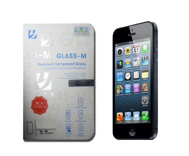 Film de protection en verre trempé Glass M pour iPhone 5/ 5S/ 5C