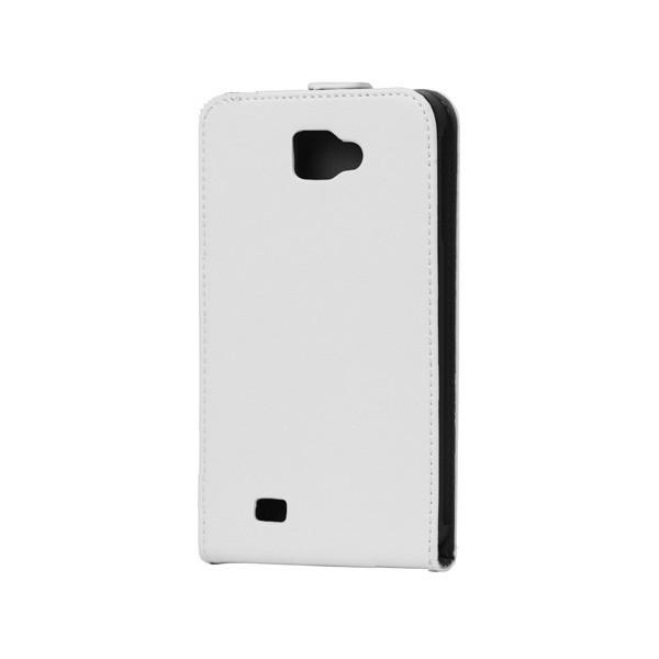 Housse en cuir pour Galaxy Note (blanc)