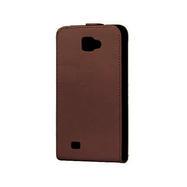 Housse en cuir pour Galaxy Note (marron)