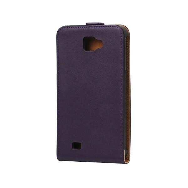 Housse en cuir pour Galaxy Note (noire)