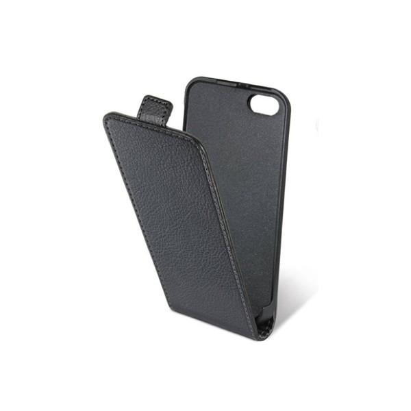 Housse cuir clapet iphone 5 (noire)