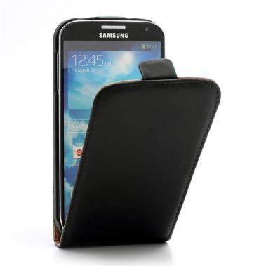 Housse cuir pour Samsung Galaxy S4 (noire)