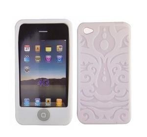 Housse silicone pour Iphone 4 (blanc)