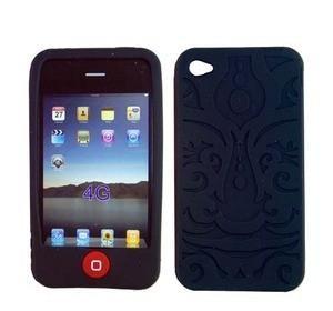 Housse silicone pour Iphone 4 (Noir)
