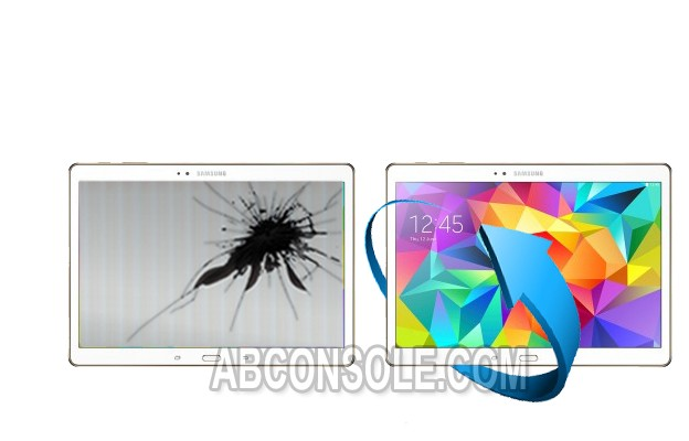 "Remplacement LCD + tactile Galaxy Tab 4 10,1""(T530) Blanc"