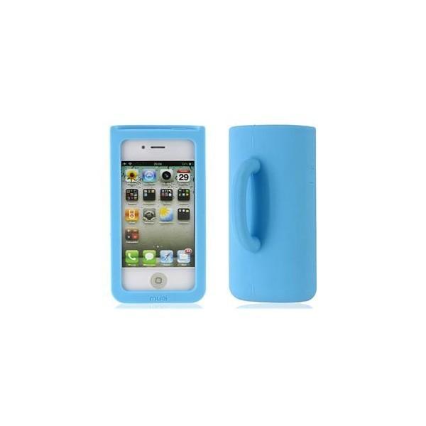 Coque Mug en silicone iphone 4 (bleue)