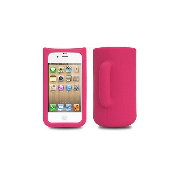 Coque Mug en silicone iphone 4 (rose)