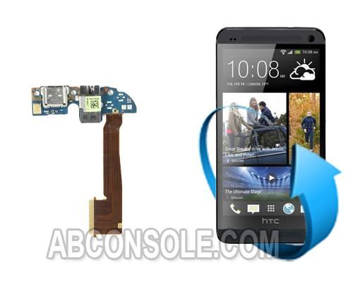 Remplacement connecteur de charge + micro HTC One M8