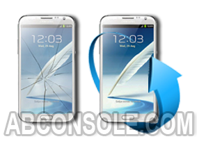 Remplacement écran Samsung Galaxy note 2 blanc (N7100)