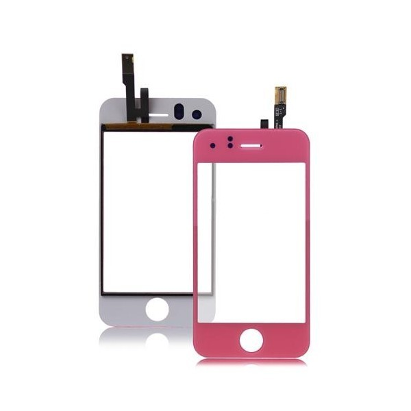 Vitre tactile Iphone 3GS (rose)