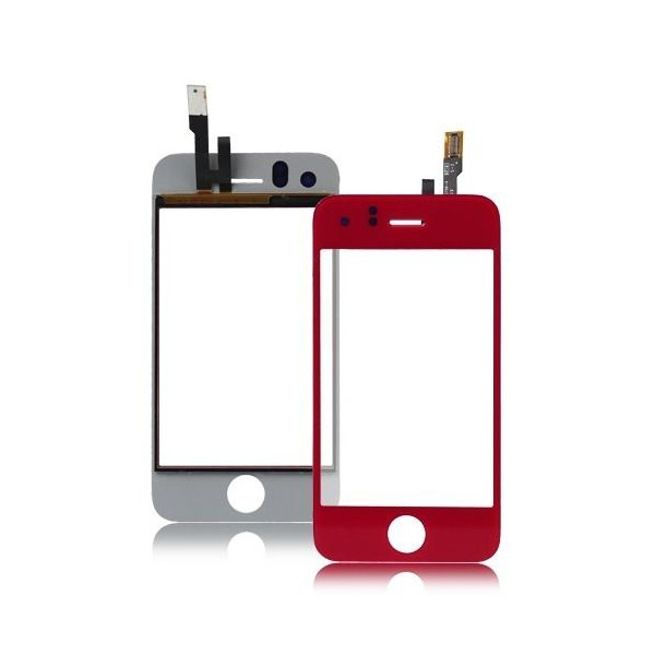 Vitre tactile Iphone 3GS (Rouge)