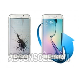 Remplacement écran Samsung Galaxy S6 EDGE (blanc)