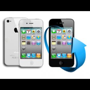 Remplacement écran + vitre arrière Iphone 4 (blanc)