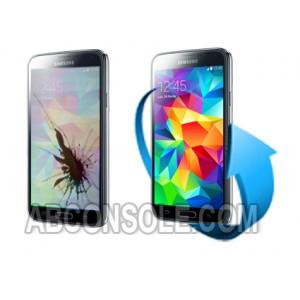 Remplacement écran Samsung Galaxy S5 noir (i9605/G900F)