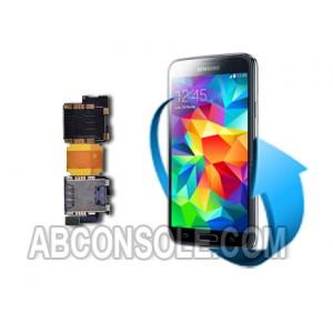 Remplacement lecteur sim Samsung S5 (i9605/G900F)